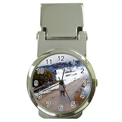 Rainy Day, Salzburg Chrome Money Clip With Watch