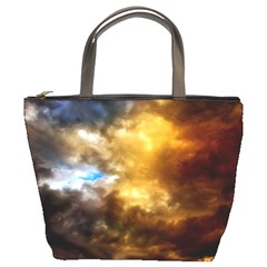 Cloudscape Bucket Handbag