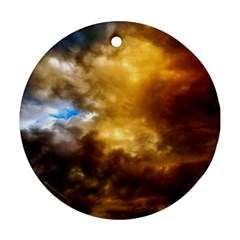 Cloudscape Ceramic Ornament (Round)