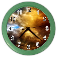 Cloudscape Colored Wall Clock