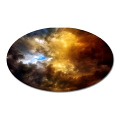 Cloudscape Large Sticker Magnet (Oval)