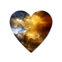 Cloudscape Large Sticker Magnet (heart)