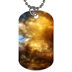 Cloudscape Single Sided Dog Tag