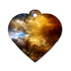 Cloudscape Twin-sided Dog Tag (Heart)