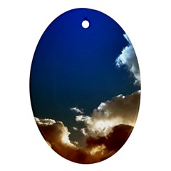 Cloudscape Oval Ornament (Two Sides)