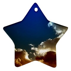 Cloudscape Twin Sided Ceramic Ornament (star)