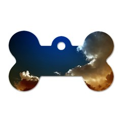 Cloudscape Twin-sided Dog Tag (Bone)