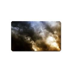 Cloudscape Name Card Sticker Magnet