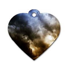Cloudscape Single Sided Dog Tag (heart)