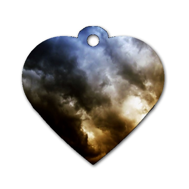 cloudscape Single-sided Dog Tag (Heart)