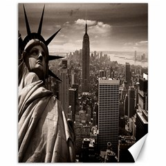Statue Of Liberty, New York 11  X 14  Unframed Canvas Print