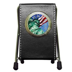 Statue of Liberty, New York Stationery Holder Clock