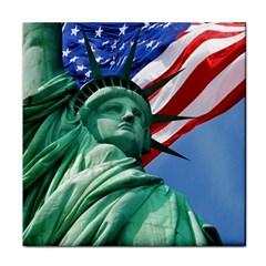 Statue Of Liberty, New York Ceramic Tile
