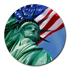 Statue of Liberty, New York 8  Mouse Pad (Round)