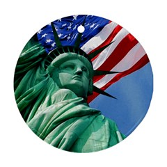 Statue of Liberty, New York Ceramic Ornament (Round)