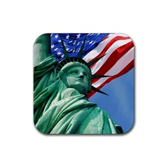 Statue of Liberty, New York 4 Pack Rubber Drinks Coaster (Square)