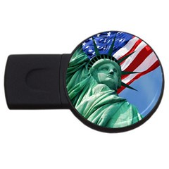 Statue of Liberty, New York 1Gb USB Flash Drive (Round)