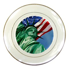 Statue Of Liberty, New York Porcelain Display Plate