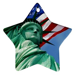 Statue of Liberty, New York Twin-sided Ceramic Ornament (Star)