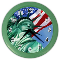 Statue of Liberty, New York Colored Wall Clock