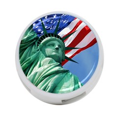 Statue of Liberty, New York Twin-sided 4 Port USB Hub (Round)