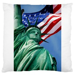 Statue Of Liberty, New York Large Cushion Case (one Side)