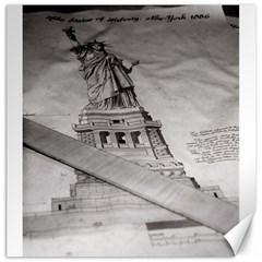Statue Of Liberty, New York 20  X 20  Unframed Canvas Print