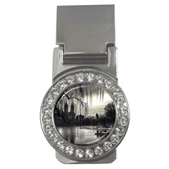 Central Park, New York Money Clip with Gemstones (Round)