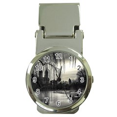 Central Park, New York Chrome Money Clip with Watch