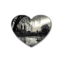 Central Park, New York Rubber Drinks Coaster (Heart)