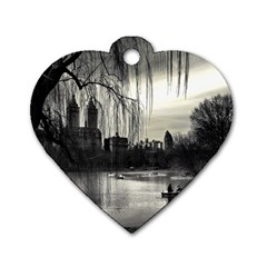 Central Park, New York Twin Sided Dog Tag (heart)