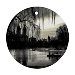Central Park, New York Twin-sided Ceramic Ornament (Round)