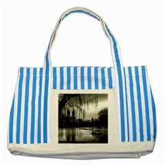 Central Park, New York Blue Striped Tote Bag