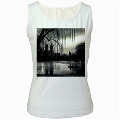 Central Park, New York White Womens  Tank Top