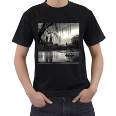 Central Park, New York Twin-sided Black Mens'' T-shirt