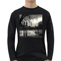 Central Park, New York Dark Colored Long Sleeve Mens'' T Shirt