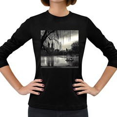 Central Park, New York Dark Colored Long Sleeve Womens'' T-shirt