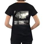 Central Park, New York Black Oversized Womens'' T-shirt Back