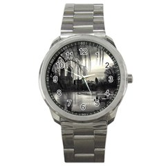 Central Park, New York Stainless Steel Sports Watch (round)