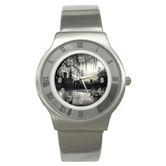 Central Park, New York Stainless Steel Watch (round)