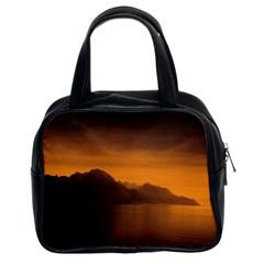 Waterscape, Switzerland Twin-sided Satchel Handbag