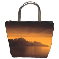 Waterscape, Switzerland Bucket Handbag