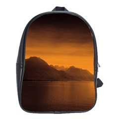 Waterscape, Switzerland Large School Backpack