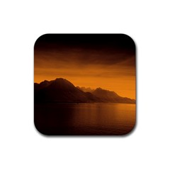 Waterscape, Switzerland Rubber Drinks Coaster (Square)