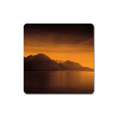 Waterscape, Switzerland Large Sticker Magnet (Square)