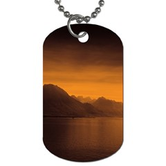 Waterscape, Switzerland Single-sided Dog Tag