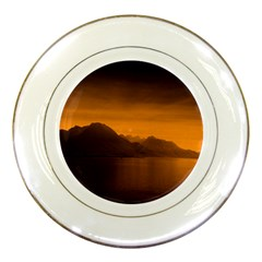 Waterscape, Switzerland Porcelain Display Plate