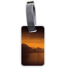 Waterscape, Switzerland Single Sided Luggage Tag