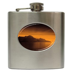 Waterscape, Switzerland Hip Flask