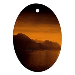Waterscape, Switzerland Oval Ornament (Two Sides)